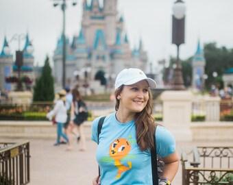 Pixel-Disney Orange Vogel - Unisex Baby Blau Tshirt - geben Kinder der Welt-Fundraiser