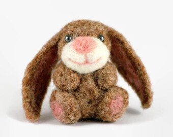 Felted Easter Bunny, Bunny Ornament, Miniature Animal, Wool Felted Easter, Easter Decoration, Needle Felted Rabbit