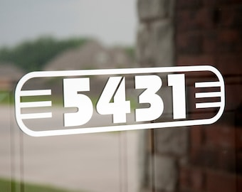 Address with Border 8 (Small) - Vinyl Decal