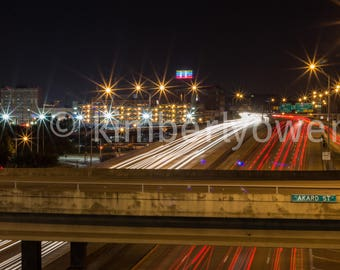 Ackard Street, City Photography, Night, Light trails, Highway