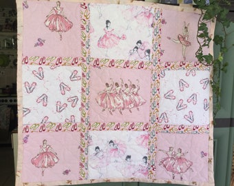 Ballet Dancers Quilted Patchwork Wall Hanging
