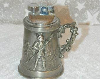 RARE Medieval Mini Stein Table Lighter - JJJ Label