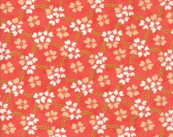 Ella and Ollie, 20302-11, Fig Tree, Strawberry, Moda Fabrics, Floral Fabric, IN STOCK