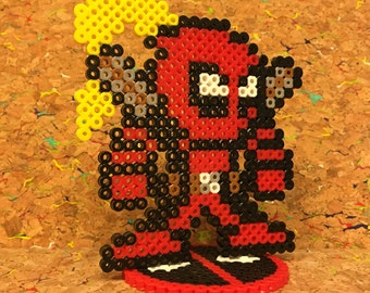 Lady Deadpool Perler with Stand
