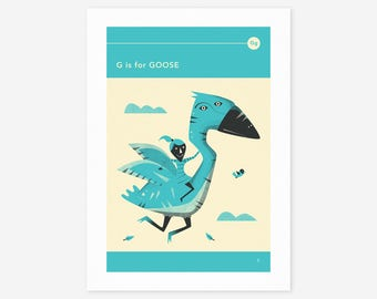 G is for GOOSE (Giclée Fine Art Print/Photo Print/Poster Print) by Jazzberry Blue