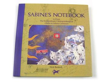 Vintage 1992 Book Sabine's Notebook by Nick Bantock Correspondence Art Postal Art Collage Book