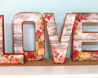 LOVE Letters, Wedding, Vintage Style