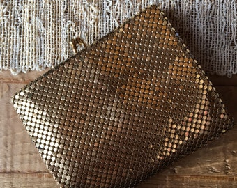 Vintage Mesh Whiting & Davis Co. Bags Small Trifold Clutch Wallet Purse