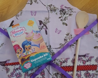 Children's Baking Kit with Handmade Apron - Girls NEW