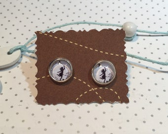 Girls butterfly earrings cabochon