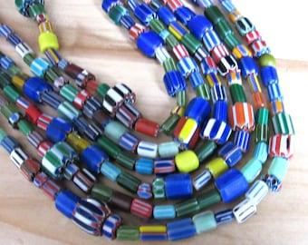 African beads, glass beads, full strand, colorfull beads, handmade beads, tribal beads