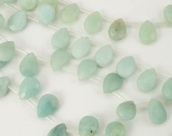 14mm x 10mm Amazonite A Faceted Teardrop Strand (16 Pcs)