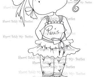 INSTANT DOWNLOAD Digital Digi Stamps Big Eye Big Head Dolls My Besties Pals My Little Dimples Img009  By Sherri Baldy