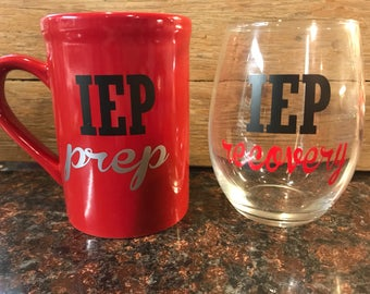 IEP Prep and Recovery Drinkware Gift for Special Education Teacher You choose colors!