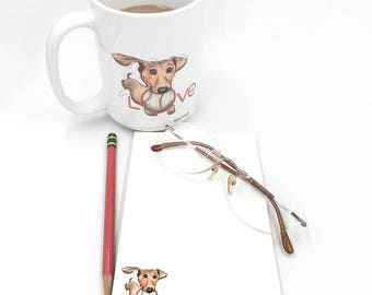 Dachshund Dog Notepad | Notepad | Dog Notepad | Dachshund Dog | Dog Lover | Dog Mug and Notepad | Handmade From Susan Drawbaugh Studio