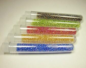 5 tubes of various colors (DA15) beads