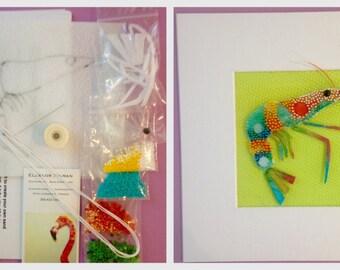 My Bead Embroidered Rainbow Shrimp Kit and Tutorial