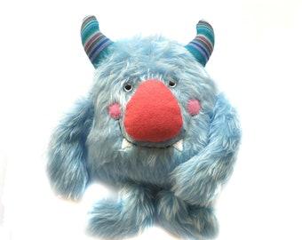 MONSTER plush, softie, monster toy, furry monster plushie