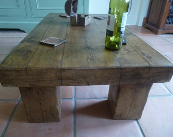 Handcrafted Rustic Coffee table made form reclaimed timber!