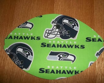 Mouse Pad, Seattle Seahawks, Lime Green,  Mouse Pads, Desk Accessories, Mouse Mat, Office Decor Football Shape Computer Mouse Pad, Gift