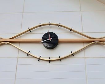 Brass and Wood Eye Clock