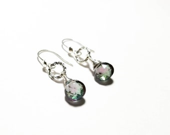 Sterling Silver and Mystic Topaz Earrings