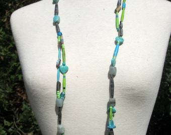 Apple collection blue and turquoise necklace