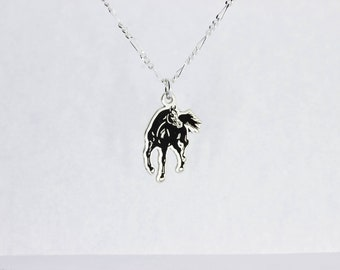 Arabian Horse Necklace Sterling Silver 925