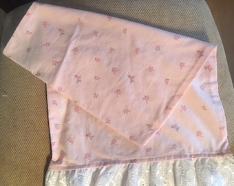 Toddler Pillowcase in Pink Floral
