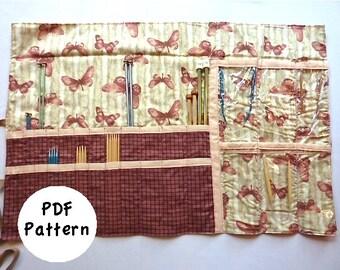 Knitting Needle Case Pattern: Size Medium (PDF Download)