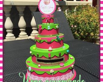 Urn / envelopes wedding cake treat box