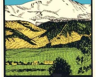 Vintage Style Pikes Peak Colorado Travel Decal sticker