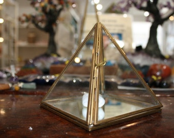 Hand Brass Glass Pyramid