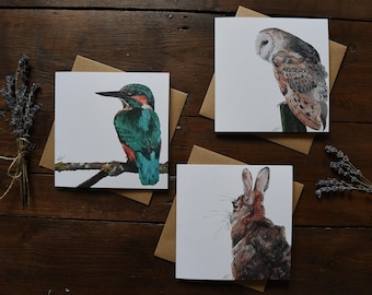 Wildlife Collection Greetings Cards - Wildlife Art