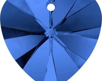 Swarovski 6228 XILION Heart Pendant - Sapphire 14 mm