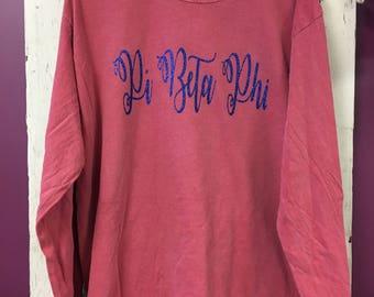 Pi Beta Phi Glitter Shirt