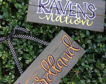 Baltimore Ravens Football wooden sign//choice of phrase