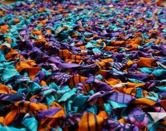 Purple Print Cotton Rug