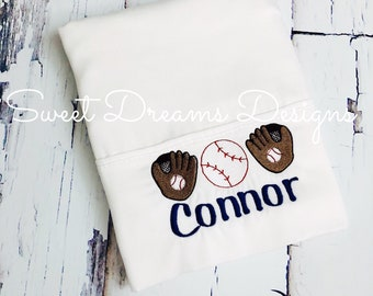 Personalized Baseball Pillowcase - Boys and Girls - Custom Requests Accepted - Dinosaurs, Pirate Ships, Baseball and more