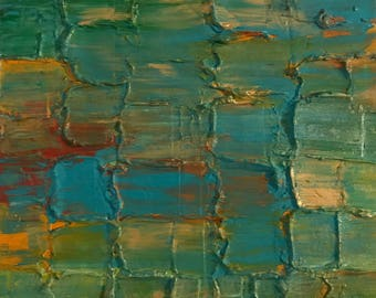 Texture Squares Acrylic Painting