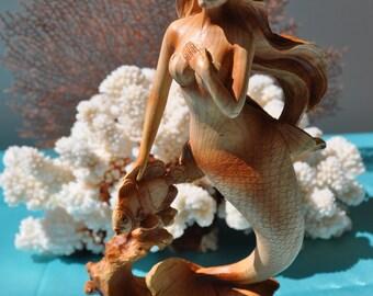 Faux Wood Mermaid