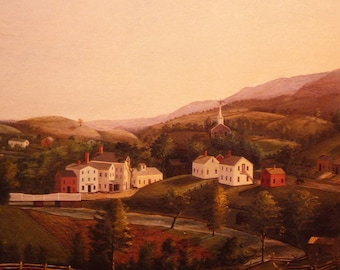 Print - Great Barrington Mass 19th century countryside - Perfect for your home - housewarming gift