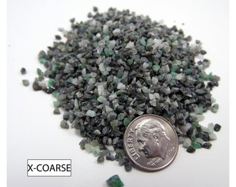 Crushed Emerald for Inlays, Woodworking, Pen Turning, Artists, Crafts, etc. Multiple Grinds Available. Hand Crushed and Sifted, 1 oz.