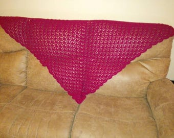 Red triangle shawl