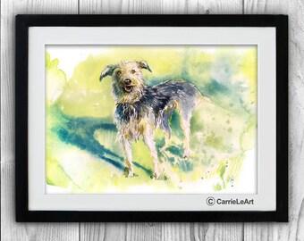 Irish Wolfhound Dog Art,Irish Wolfhound watercolour, Irish Wolfhound Dog poster,Irish Wolfhound Dog wall art,Irish Wolfhound Dog watercolor