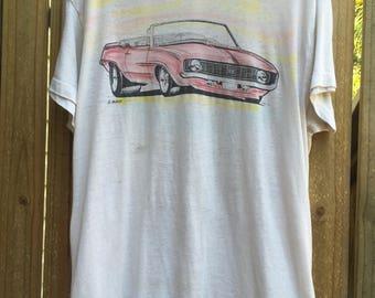 Vintage 70's Paperthin car printed tee