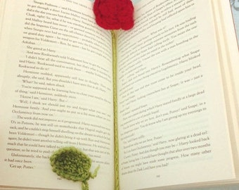 Crochet Rose Flower Bookmark [MADE TO ORDER]