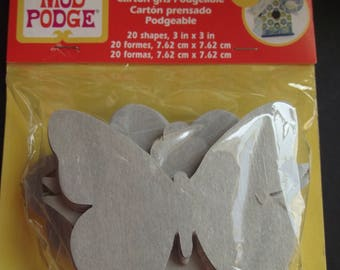 POGEABLE CHIPBOARD SHAPES,Modge Podge Shapes,Arts and Crafts,Decoupage,Keys,Flowers,Butterflies,CLovers,Craft Supplies