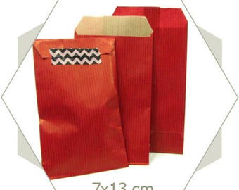 20 Red PC25 kraft paper gift bags