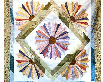 Dresden Bloom Quilt Pattern by Cozy Strip Club